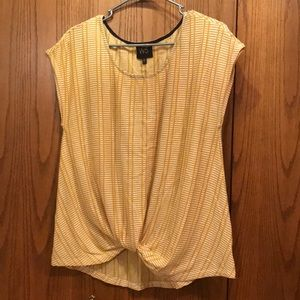 Yellow and Cream Top